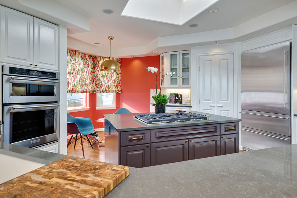 Modern-Bachelor-Pad-by-Ashleigh-Underwood-Design The Coral Color: How to Use It to Decorate Beautiful Interiors