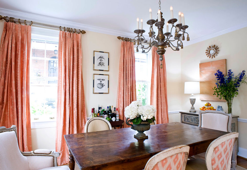 Dining-Room-by-Sara-Tuttle-Interiors The coral color: How to decorate beautiful interiors with it