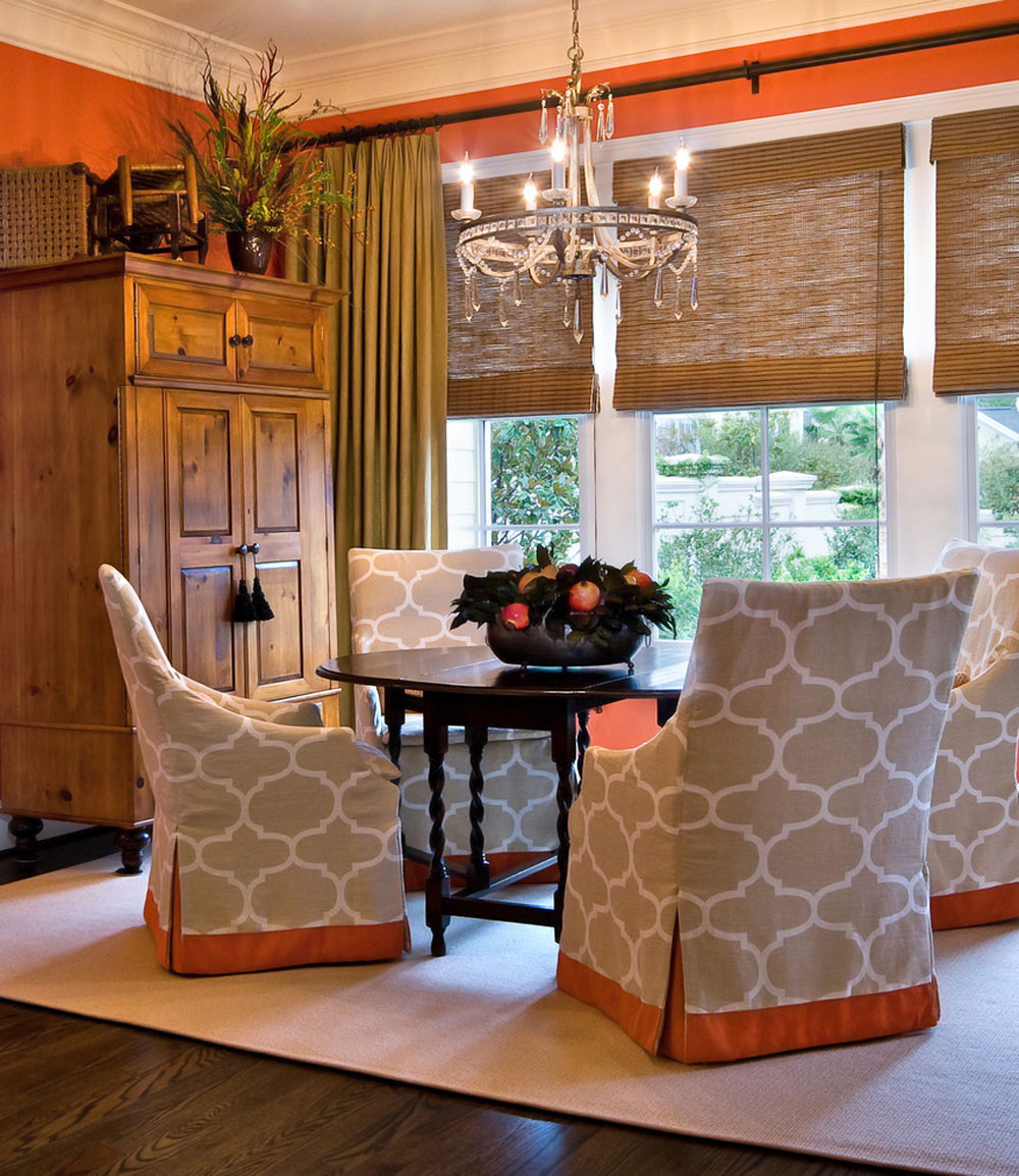Urban-Townhome-Breakfast-Room-by-LORRAINE-G-VALE-Allied-ASID- The coral color: How to use it to decorate beautiful interiors