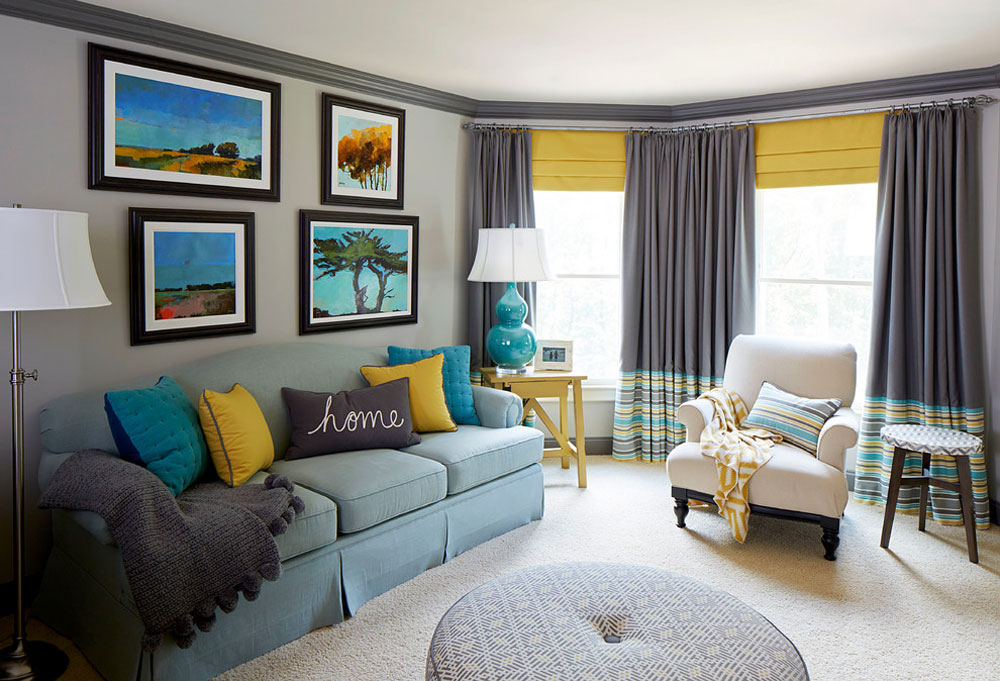 Colorful-Office-West-Cobb-von-Meriwether-Design-Group The aqua color: How to decorate your house interior with it