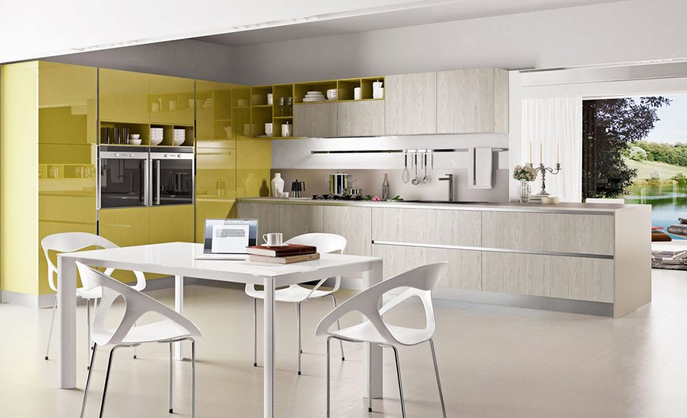 Chartreuse-White-Kitchen-Color-Scheme Find out about the latest trends in kitchen colors