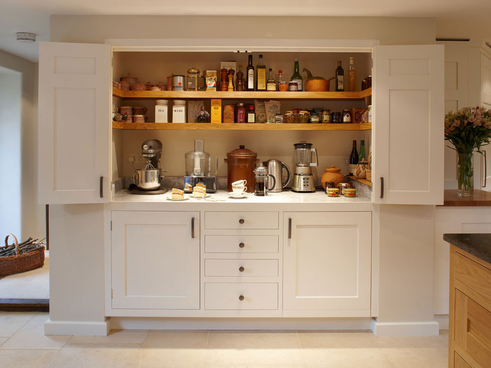 Magnificent-Larder-Kitchen-by-Figura-Kitchens-Interiors Pantry cabinet ideas: shelf and storage ideas for your kitchen