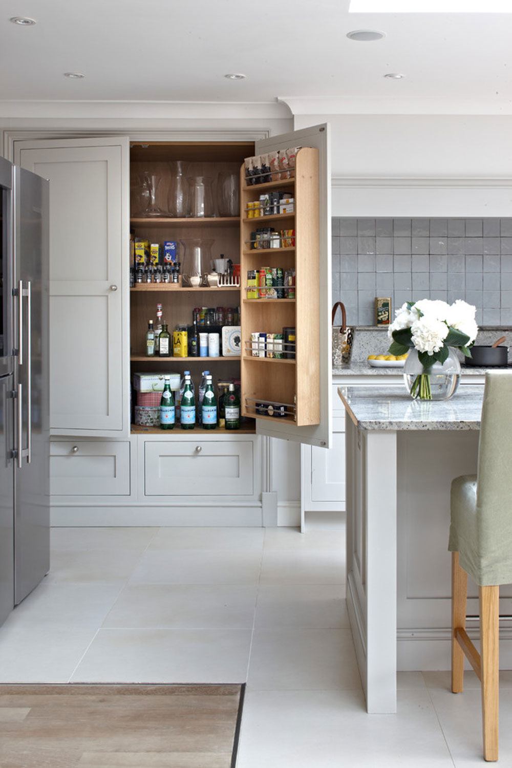Surrey-bespoke-traditional-shaker-kitchen-by-brayer-design Pantry Cabinet Ideas: Shelving and Storage Ideas for Your Kitchen