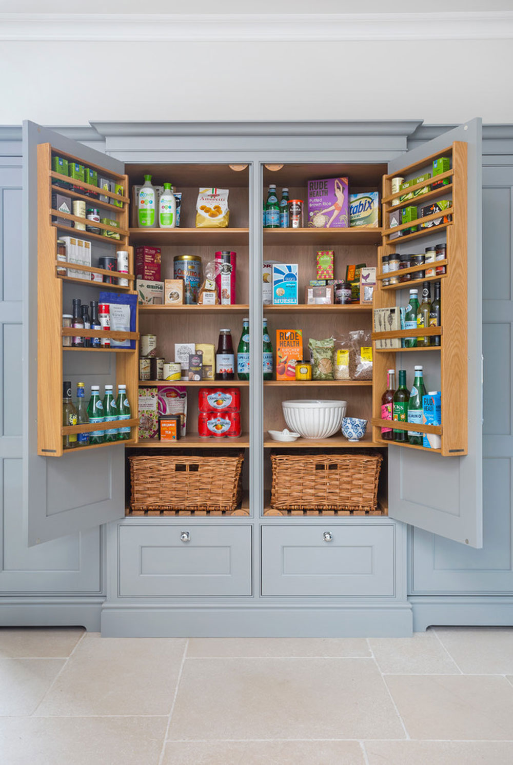 Hampshire-by-Lewis-Alderson-Co.  Pantry cabinet ideas: shelving and storage ideas for your kitchen