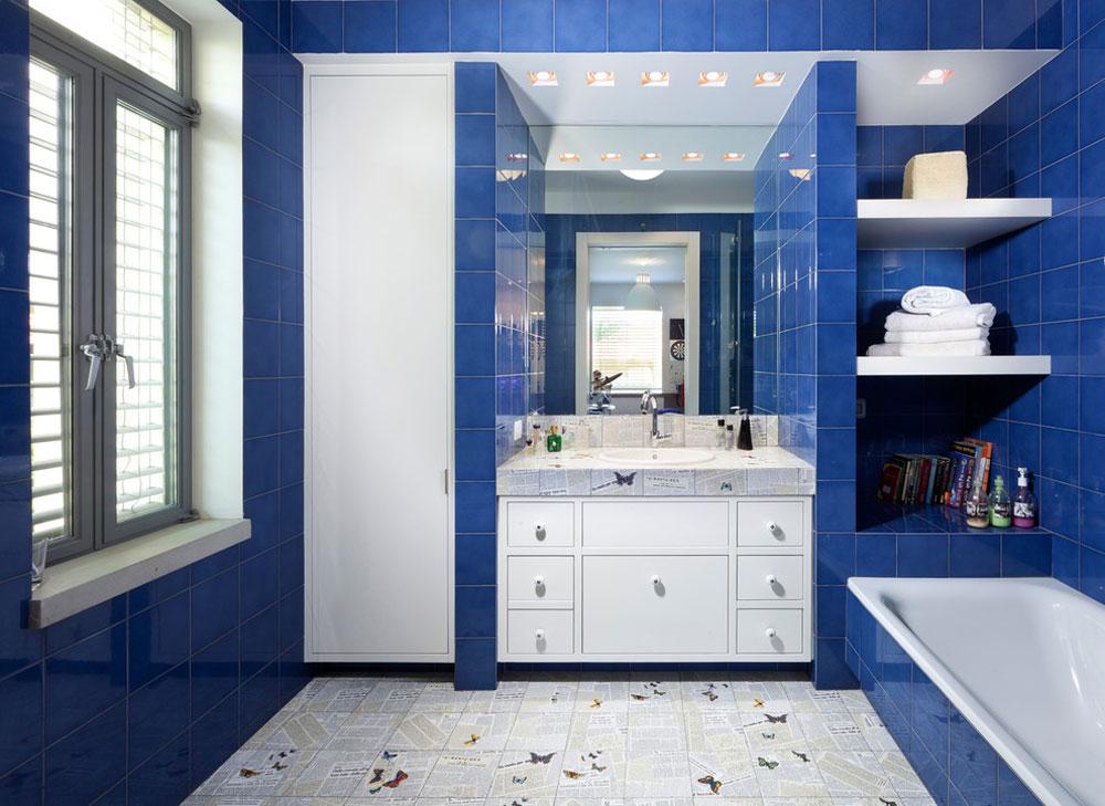 Bad-von-Elad-Gonen Blue bathroom ideas.  Design, decor and accessories