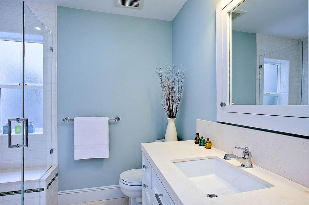 Beach-style-bathroom-by-Melissa-Lenox Blue bathroom ideas.  Design, decor and accessories
