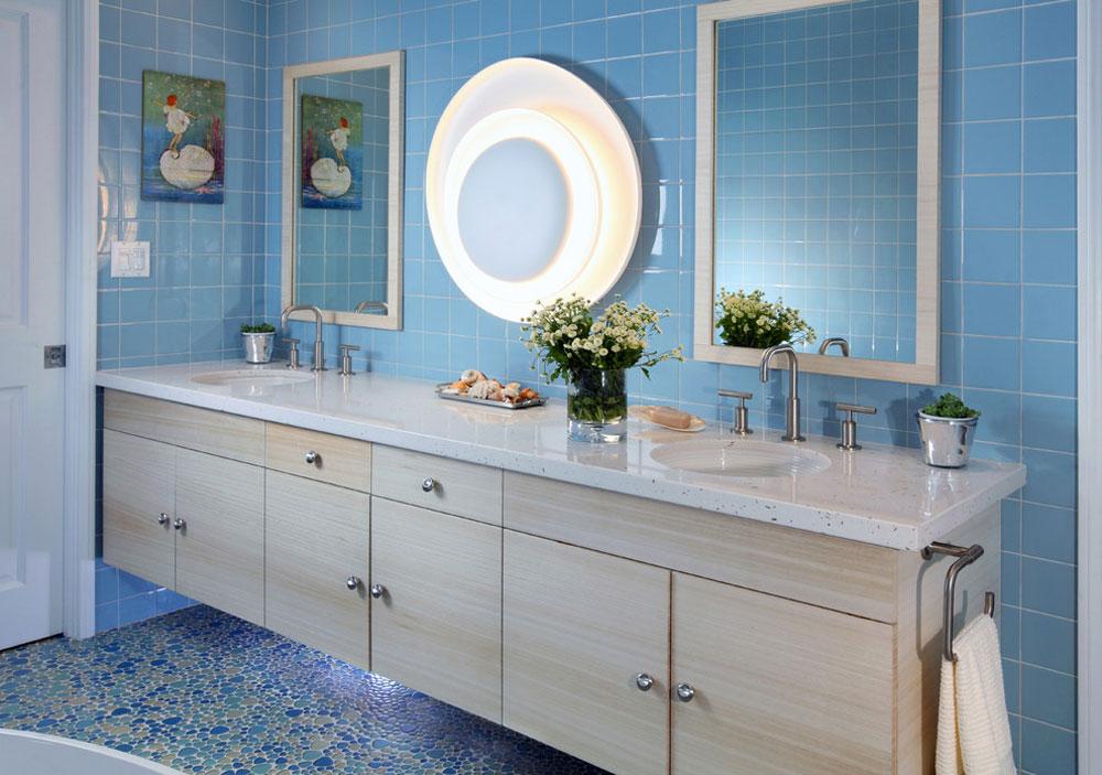 Peaceful Palisade-by-Sarah-Barnard-Design Blue bathroom ideas.  Design, decor and accessories