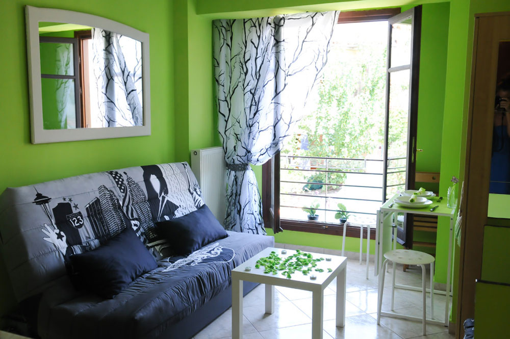 A-Tiny-Green-Home-by-Errikos-Artdesign Tiny apartment ideas to design and decorate