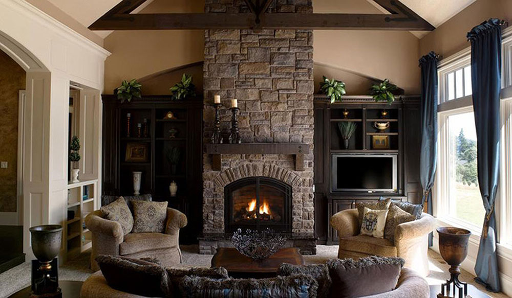 Chimney Stunning Exterior Stone Veneer Design Ideas