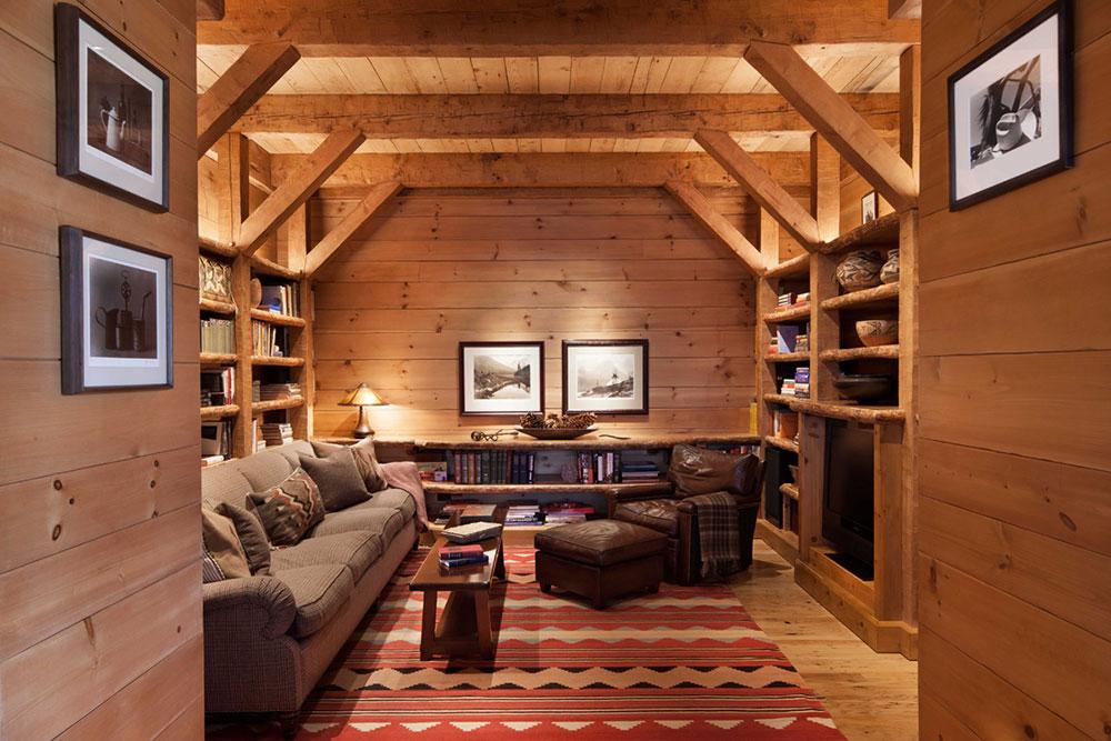 fabulous-gallery-of-log-cabin-interior-design-7 Eight interior design ideas for small log cabins