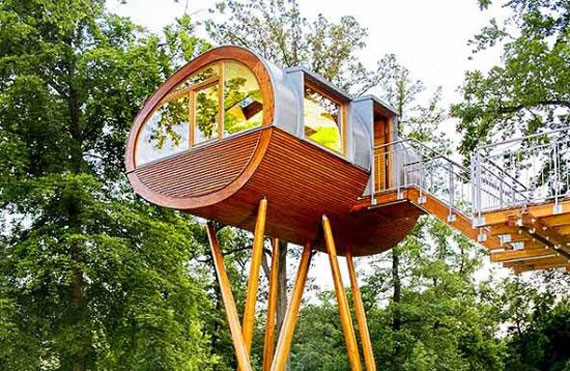 t4 Cool Treehouse Design Ideas to Build (44 Pictures)