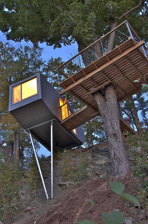 t11 Cool Treehouse Design Ideas to Build (44 Pictures)