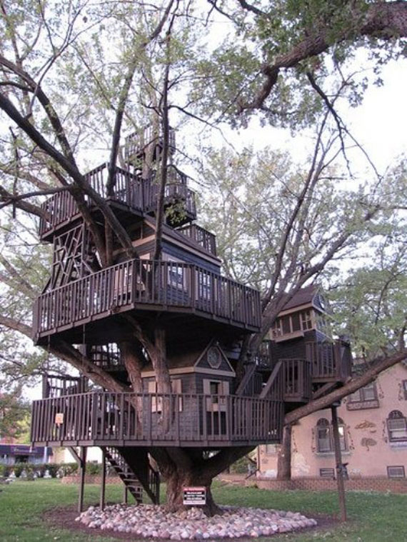 t23 Cool Treehouse Design Ideas to Build (44 Pictures)