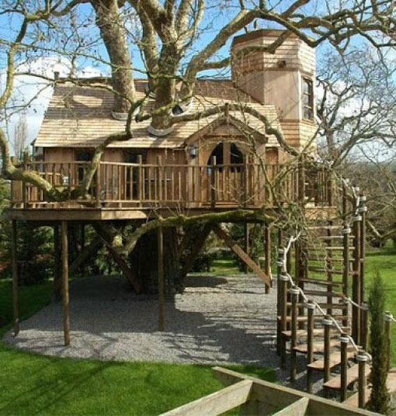 t40 Cool Treehouse Design Ideas to Build (44 Pictures)