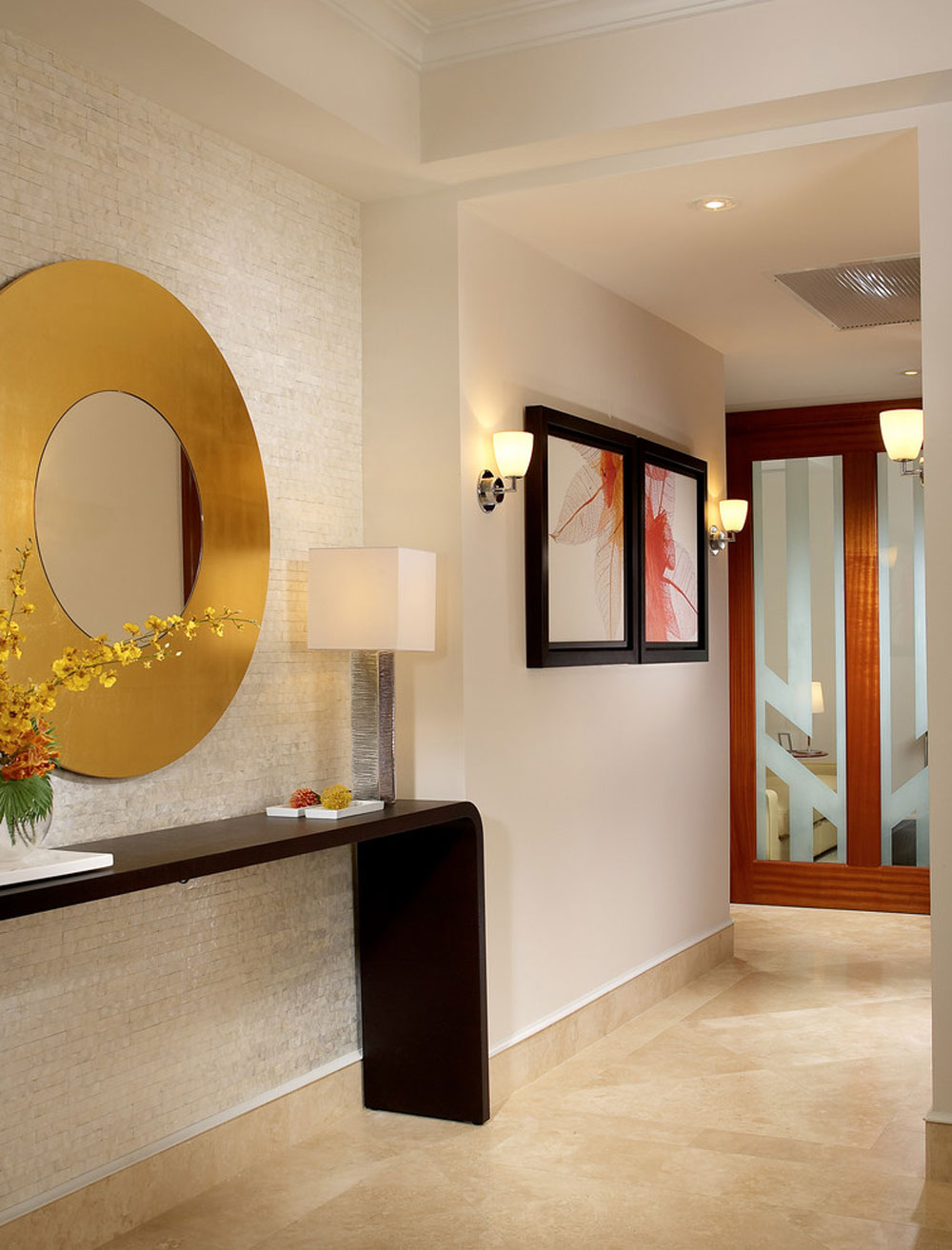 modern hall Contemporary and modern interior design features