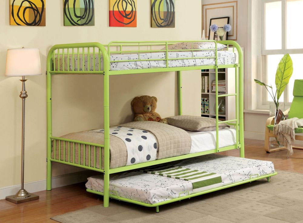 Low-size metal bunk beds with extra beds 20 low-bunk beds ideas for low ceiling rooms