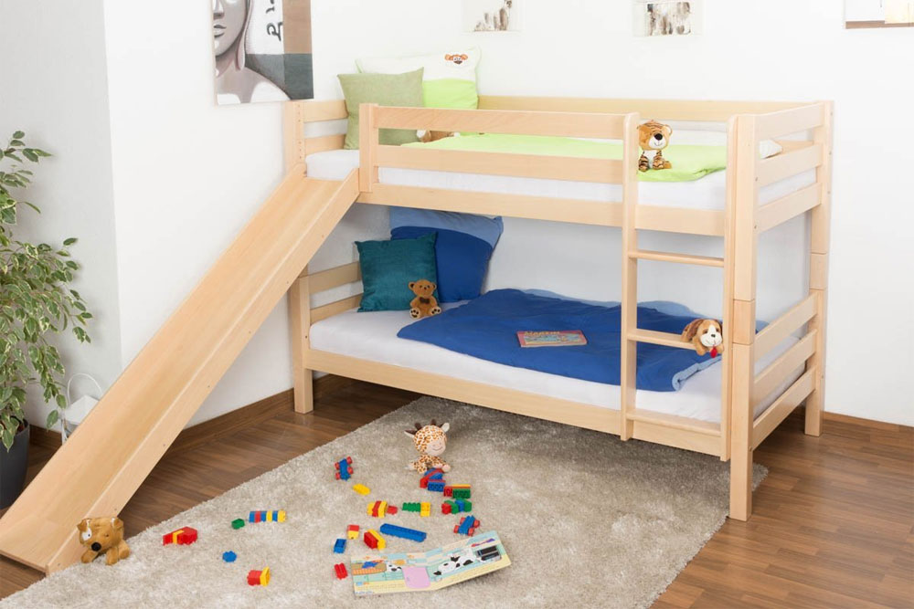 Short Bunk Bed With Slide 20 Low Bunk Bed Ideas For Low Ceiling Spaces