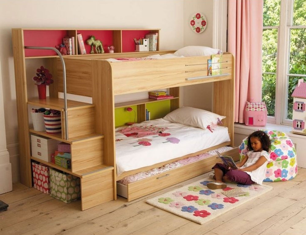 Bunk Beds For Girls 20 Low Bunk Bed Ideas For Low Ceiling Rooms