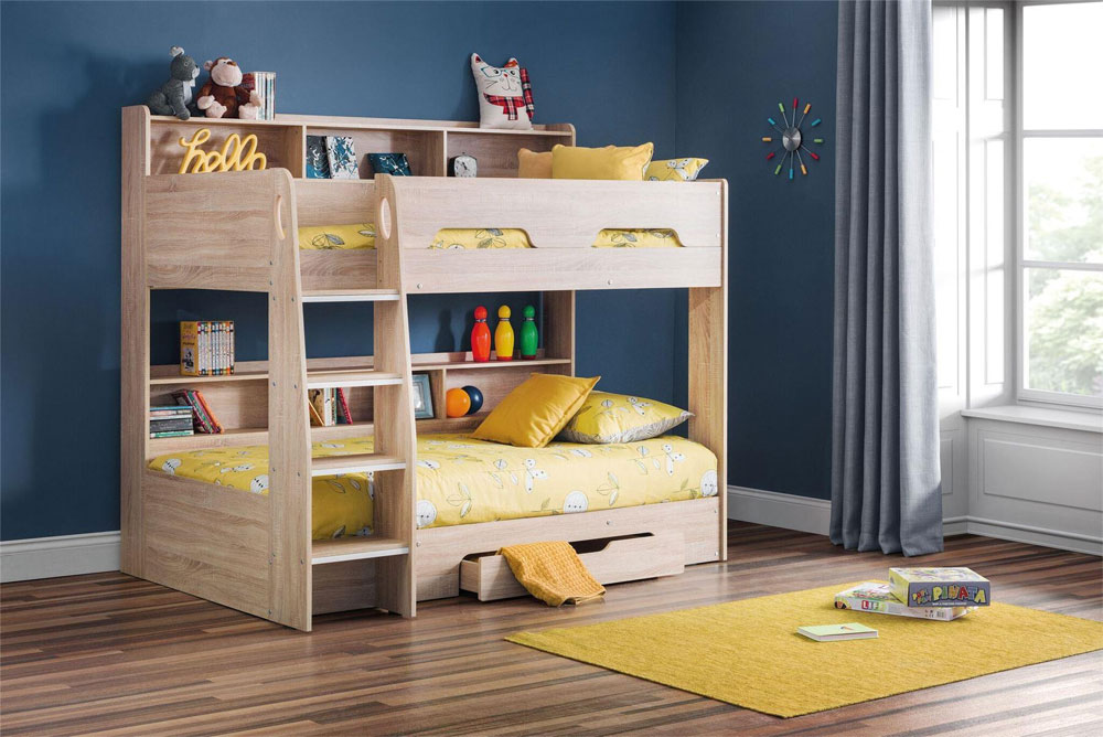 strong bunk bed with shelves and drawer 20 low bunk beds ideas for low ceiling spaces