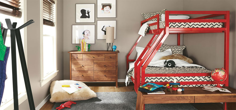 Low-Size-Twin-Over-Full-Bunk-Beds-with-Metal-Frames 20 Low-Bunk Bed Ideas for Low Ceiling Spaces