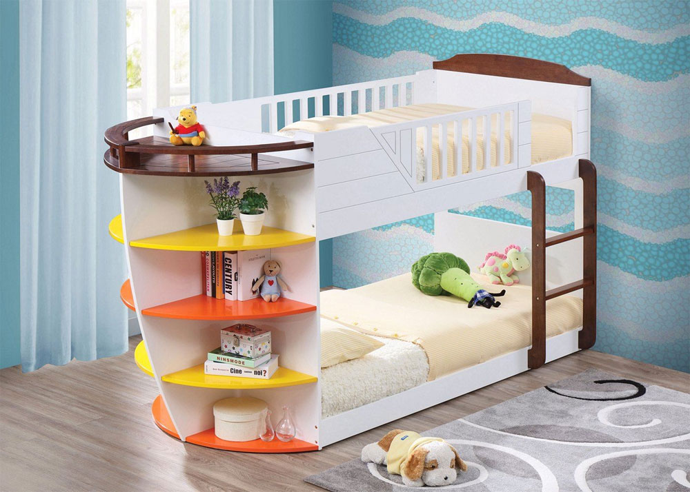 Low Profile Marine Bunk Bed With Shelves 20 Ideas For Low Bunk Beds For Low Ceiling Spaces