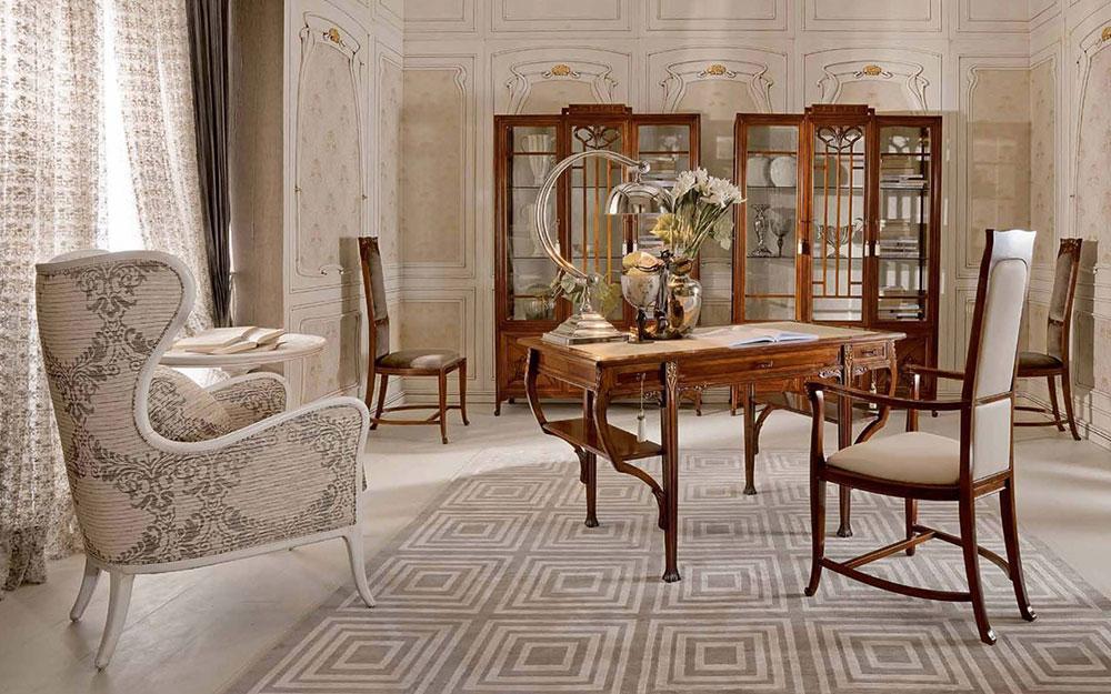 Art Nouveau living room interior design Art Nouveau interior design with its style, decor and colors