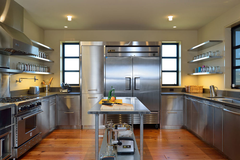 New-Modern-Farmhouse-von-Koch-Architects-Inc.-Joanne-Koch- metal kitchen cabinets: stainless steel furniture for your kitchen