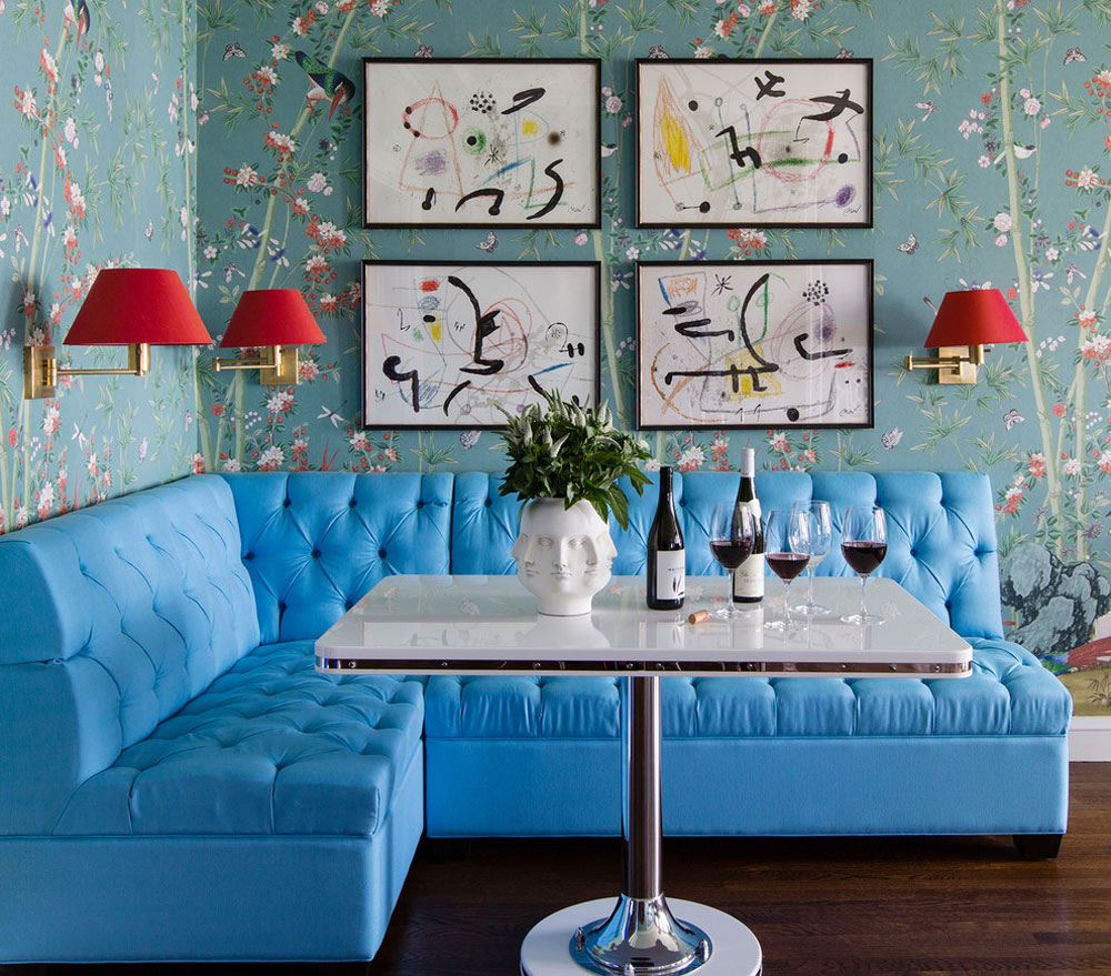 Lake-Shore-Drive-Co-Op-Breakfast-Corner-of-Summer-Thornton-Design-Inc Teal Color: Colors that go well with teal in the interior