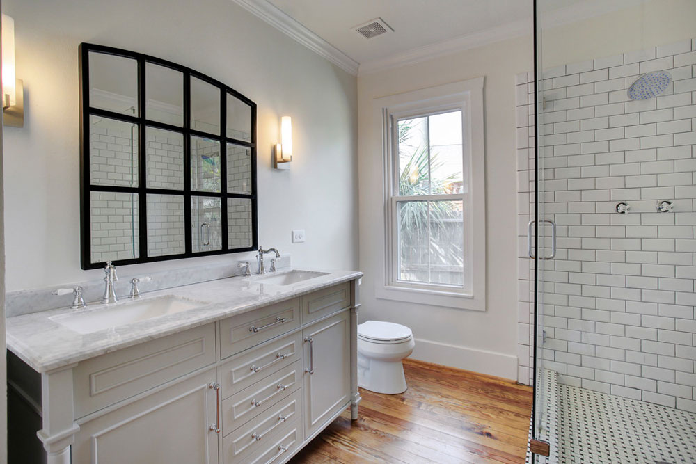 1920s-Bungalow-by-GEI-Homes-Design Farmhouse Bathroom: Decor, Ideas, Lighting and Style