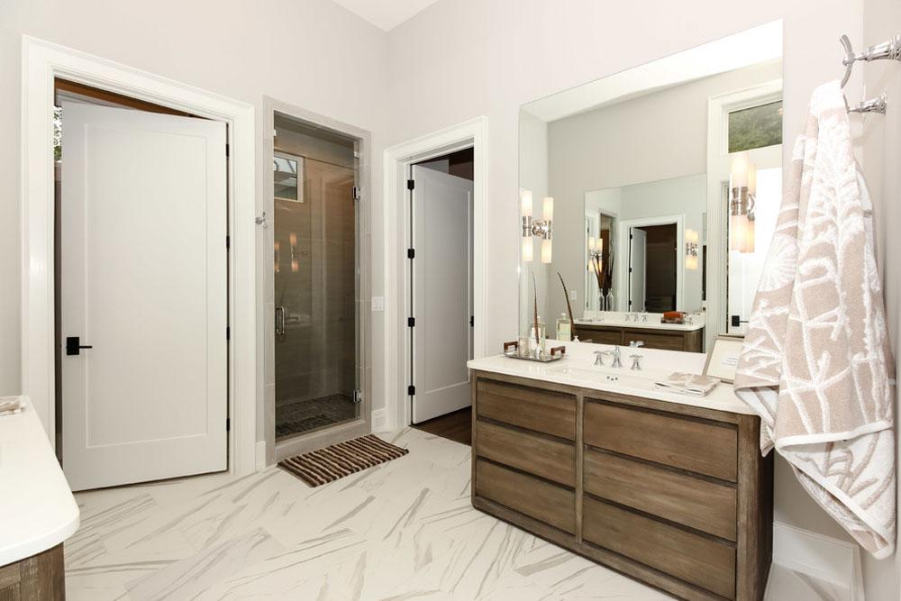 Modern Farmhouse-Durham-NC-by-Lisle-Architecture-Design Farmhouse-Bathroom: decor, ideas, lighting and style