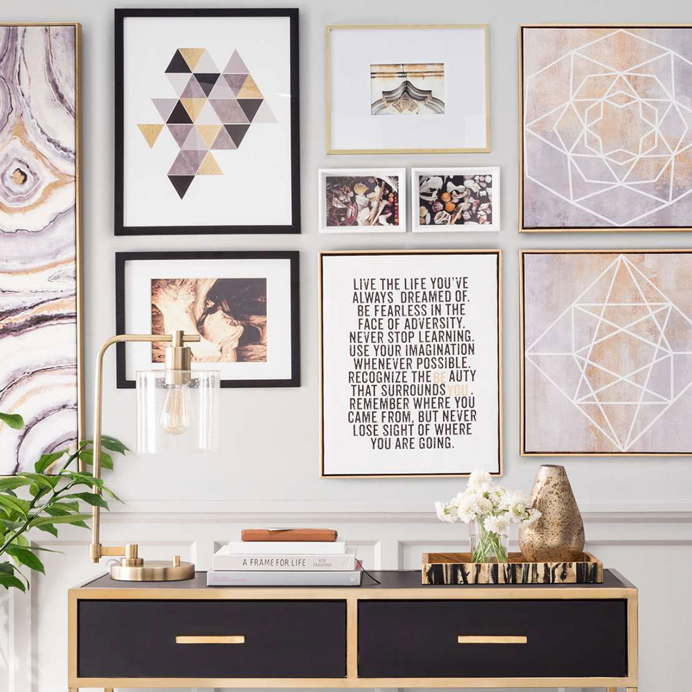 Super-design-ideas-picture-gallery-wall-with-aim How to build the perfect gallery wall