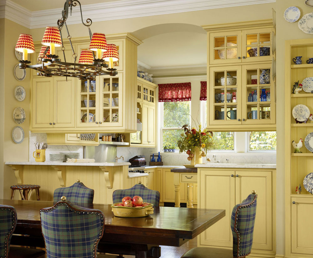 Breakfast-room-kitchen-by-Adeeni-Design-Gruppe French country kitchen: decor, cabinets, ideas and curtains