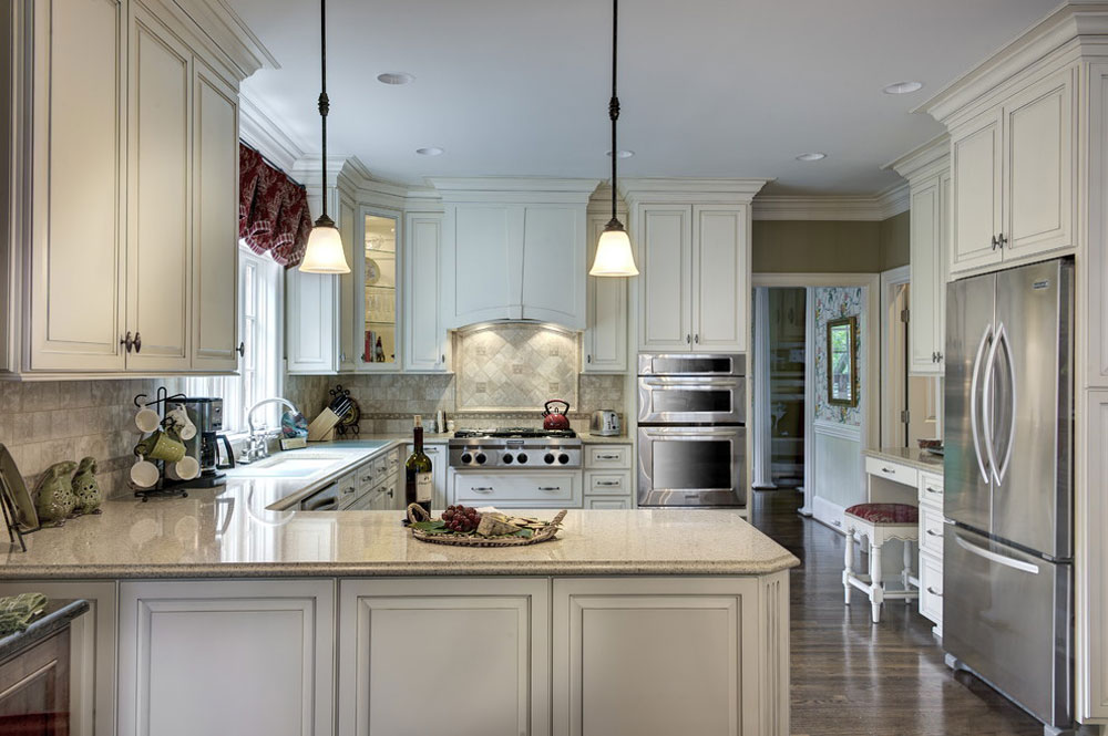 Country-French-Kitchen-by-Cabell-Cummins-Interiors French country kitchen: decor, cabinets, ideas and curtains