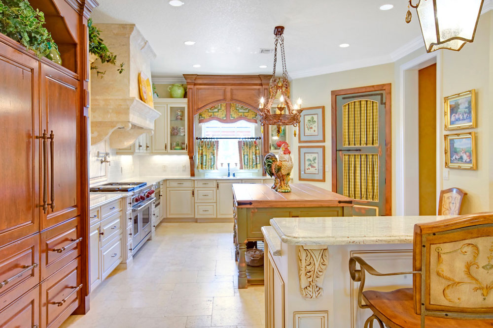 French Country Kitchen by Sunscape-Homes-Inc-2 French Country Kitchen: Decor, Cabinets, Ideas and Curtains