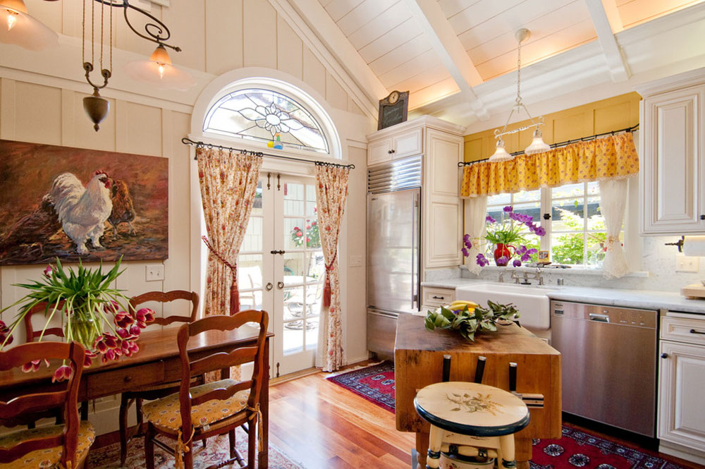Debra-Campbell-Design-by-Debra-Campbell-Design French country kitchen: decor, cabinets, ideas and curtains