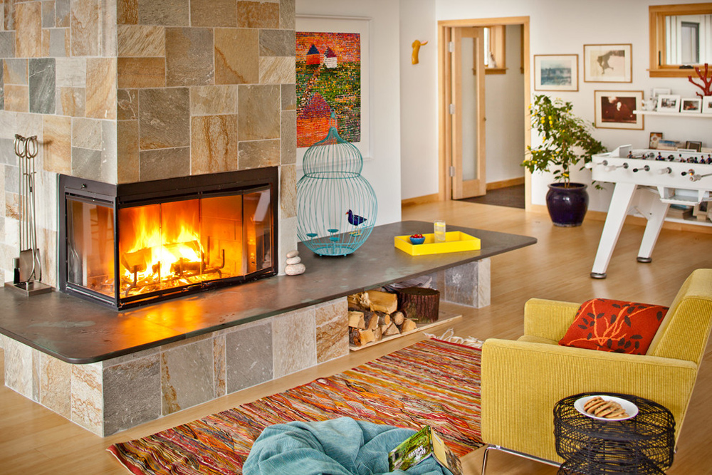 Mt.-Desert-Island-by-Irvin-Serrano fireplace stove: decor, stone and cover