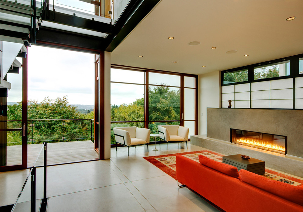 Capitol-Hill-byPrentiss-Balance-Wickline-Architects - Fireplace stove: decor, stone and cover