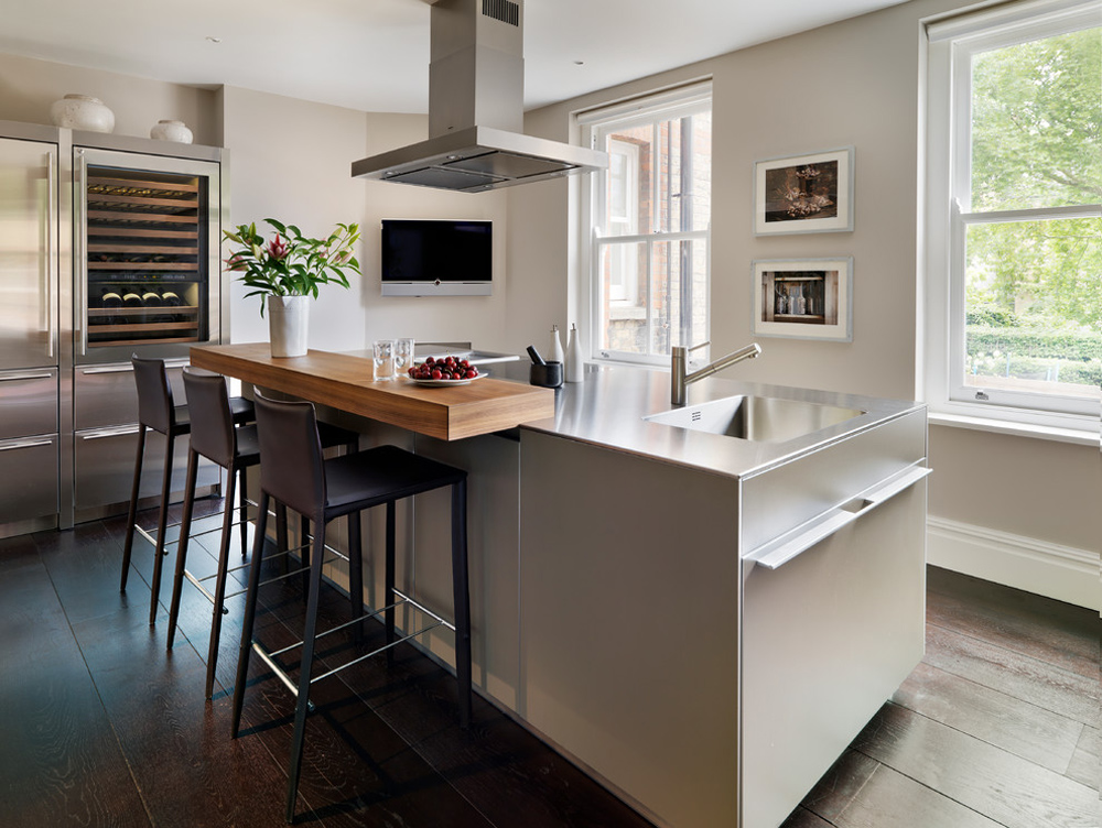 Bulthaup-by-Kitchen architecture breakfast bar: table, stool and design ideas