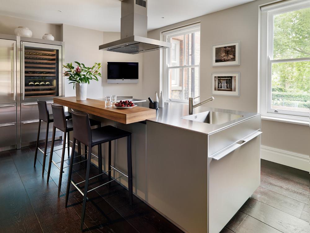 Mansion-block-apartment-von-Bulthaup-von-Küche-architecture-breakfast bar: table, stool and design ideas