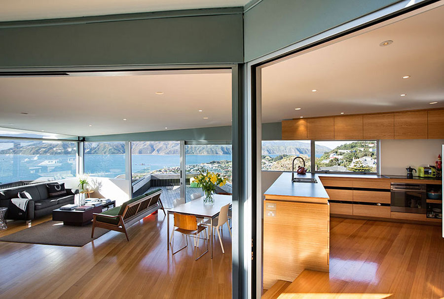 4 house in New Zealand with a modern design and breathtaking views