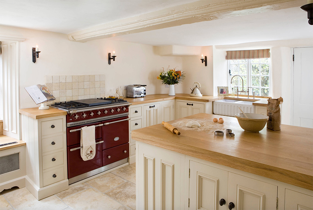 Cozy Cottage-by-Hill-Farm-Furniture-Ltd Country Kitchen: Designs, Ideas, Cabinets, and Decor