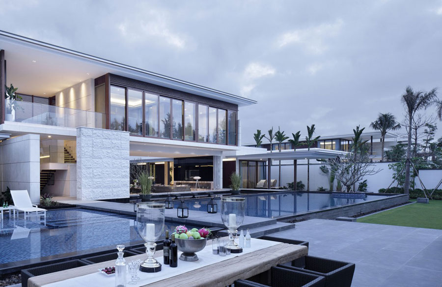 18 Modern Chinese Villa with Luxurious Features Designed by Gad