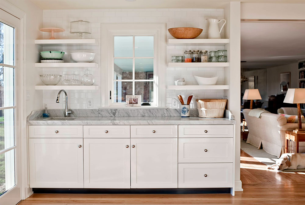 Baking-Center-by-Rock-Paper-Hammer Kitchen Shelves: Ideas for Floating, Pull-Out, and Wall-Mounted Shelves