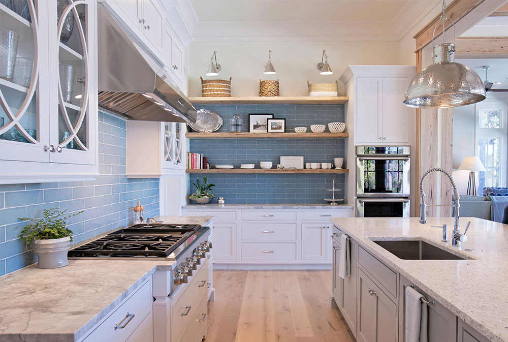 Kitchen shelves from Cardinal-Rd-by-Holmes-Salter-Interiors: ideas for floating, pull-out and wall-mounted shelves