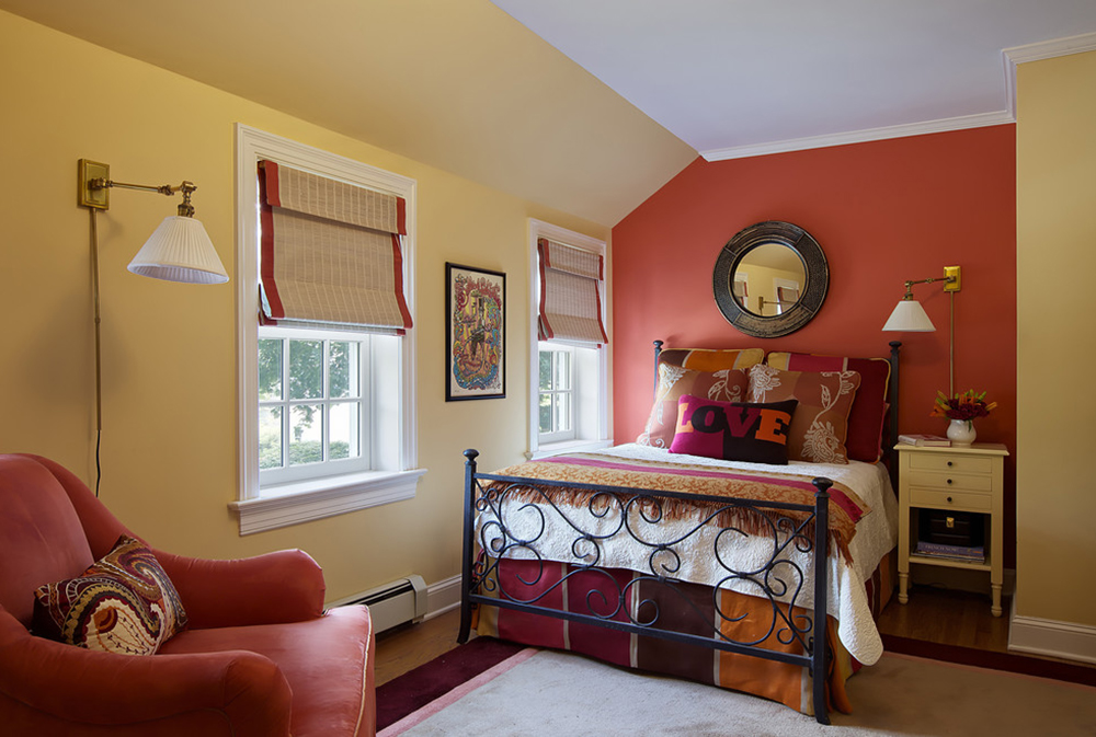 bohemian-chic-by-b-fein-interiors-llc Red bedroom ideas: decor, walls, paint and furniture