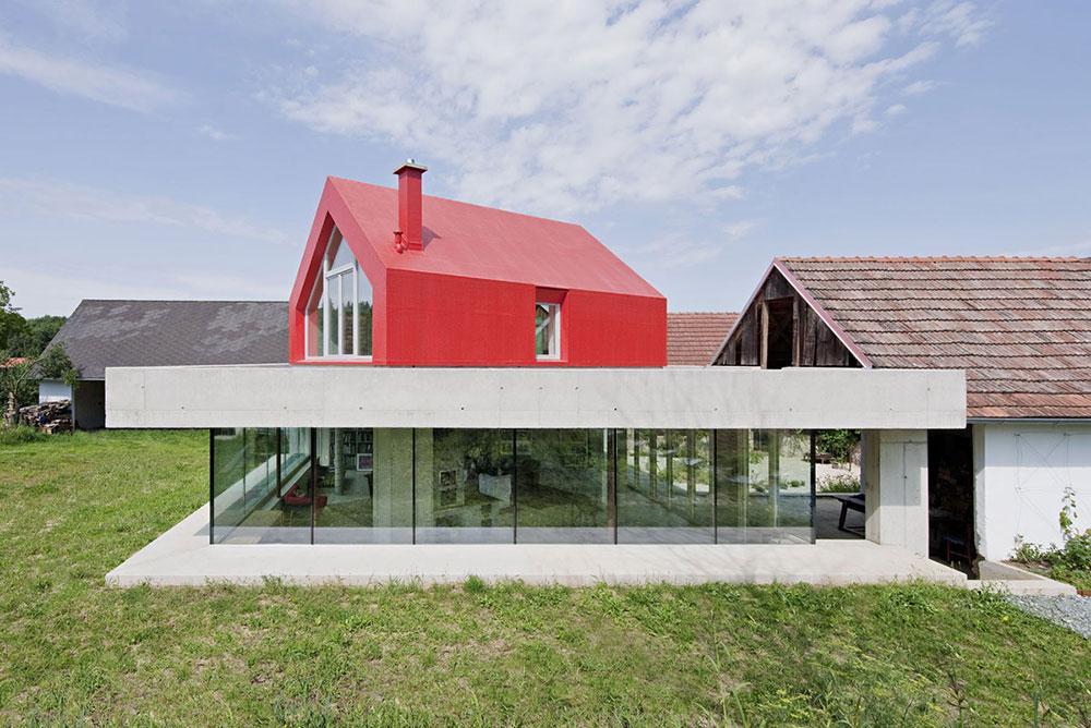 Farmhouse-Renovation-Burgenland-Austria-Concrete-Glass 6 tips for saving money on large renovation projects