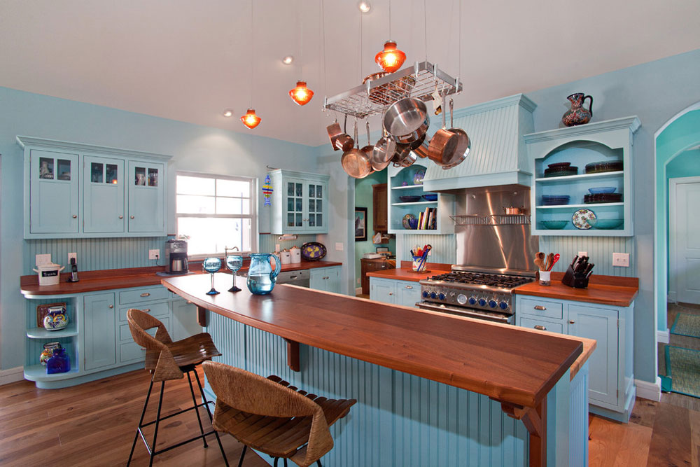 Bermuda-Colonial-Residence-by-Village-Architects-AIA-Inc.  Blue kitchen ideas: cupboards, walls and counters