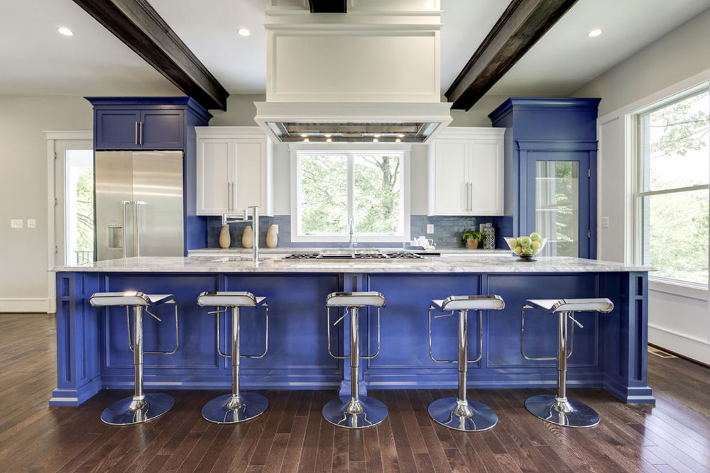 Blue kitchen ideas for Sidd-Kashyap: cupboards, walls and counters