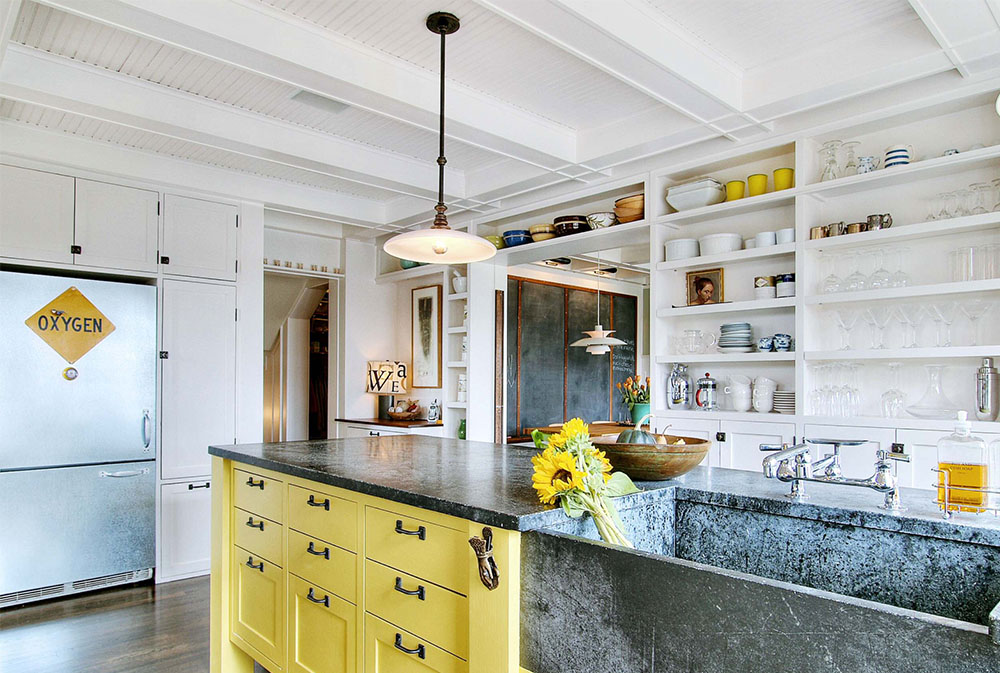 Kitchens-by-JAS-Design-Build Yellow kitchen: decorative carpets, accessories and ideas