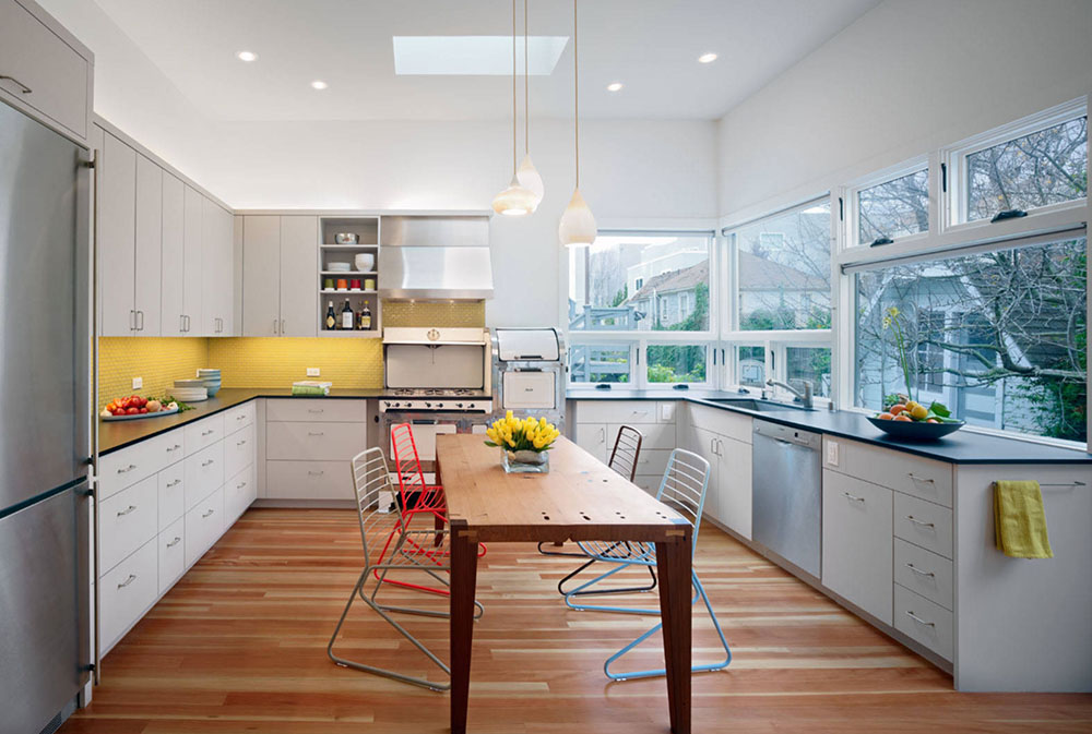18.-by-Chr-DAUER-Architects Yellow kitchen: decorative carpets, accessories and ideas